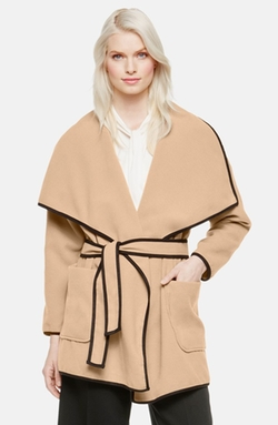 Vince Camuto - Oversize Collar Plush Wrap Coat