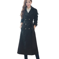 Ms Stunner - Double-Breasted Trench Coat