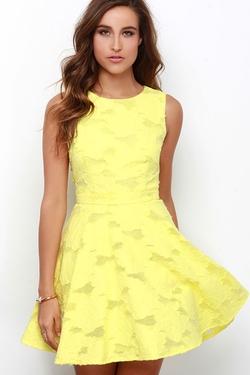 Lulu*s - Get Glowing Yellow Dress