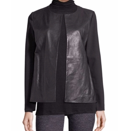 Eileen Fisher  - Leather-Front Jacket