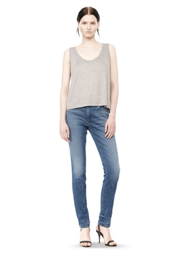 Alexander Wang - Classic Low Neck Flared Tank Top