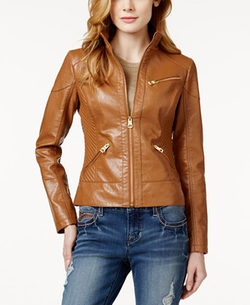 Guess - Faux-Leather Bomber Jacket