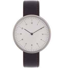 MMT  - C 13 stainless-steel and leather watch