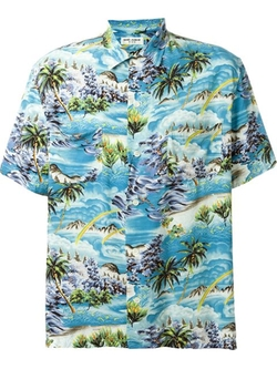 Saint Laurent - Surf Print Hawaiian Shirt