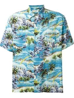Saint Laurent - Surf Print Hawaiian Shirt
