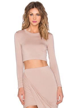 Blq Basiq - X Revolve Exclusive Long Sleeve Crop Top