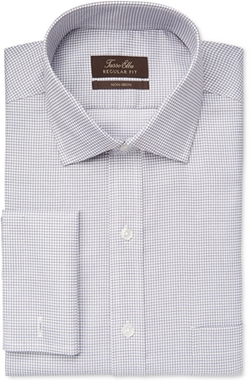 Tasso Elba - Mini Check French Cuff Dress Shirt