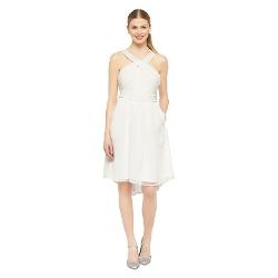 Tevolio - Halter Neck Chiffon Bridesmaid Dress