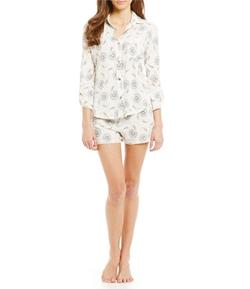 Lucky Brand  - Paisley Shorty Pajama Set