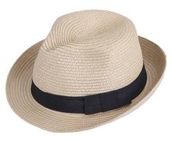 Bigood - Straw Mafia Fedora Hat