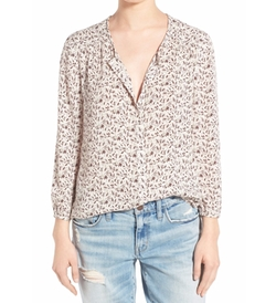 Hinge  - Print Button Front Blouse