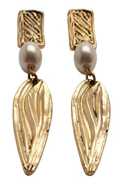 Karine Sultan - Matte Gold Drop Earrings