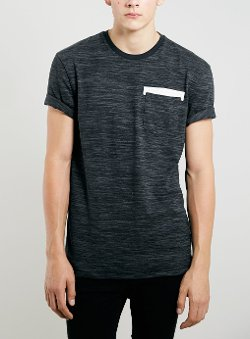Topman - Texture Pocket T-Shirt