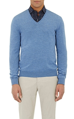 Barneys New York - V-Neck Sweater