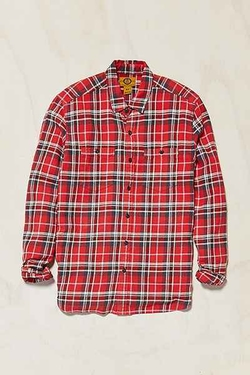 Stapleford - Rowan Acid Plaid Flannel Button-Down Shirt