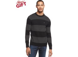 Tommy Hilfiger  - Intrepid Striped Crew-Neck Sweater
