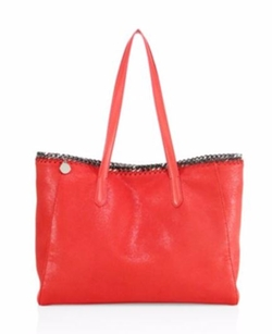 Stella McCartney  - Falabella Small Shimmer Faux Leather East-West Tote Bag