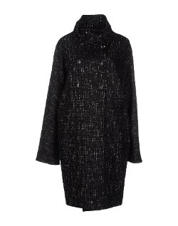 Fontana Couture  - Tweed Turtleneck Coat
