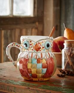 Mackenzie-Childs - Owl Mug