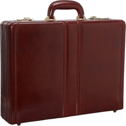 Mancini Leather Goods  - Luxurious Italian Leather Attaché Case