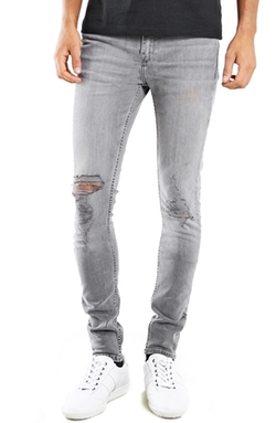 Topman - Ripped Spray On Skinny Jeans