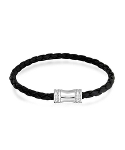 Bling Jewelry -  Braided Leather Bracelet