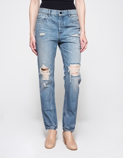 Denim X Alexander Wang - Boy Fit Light Destroyed Jeans