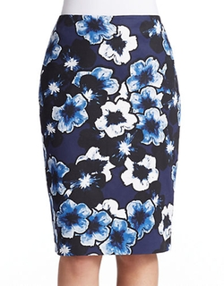 Lord & Taylor  - Pretty Pansies Pencil Skirt
