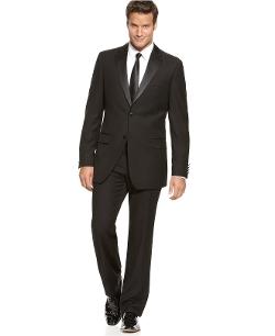 Izod - Black Tuxedo Suit