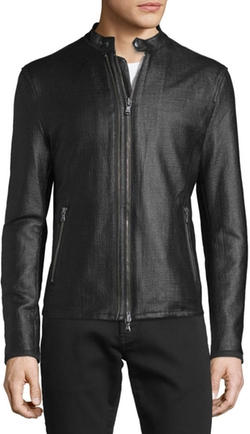 John Varvatos Star USA  - Textured Zip Moto Jacket