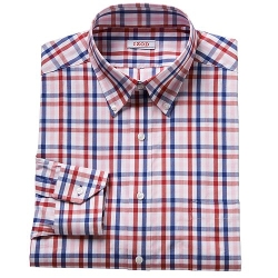 IZOD  - Classic-Fit Plaid Button-Down Dress Shirt