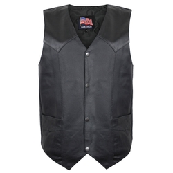 USA Leather  - Mens Club Vest