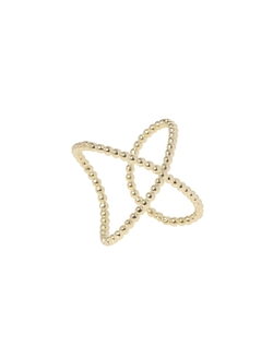 Lady Grey  - Gold Intersect Ring