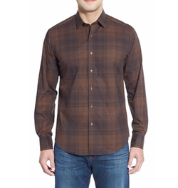 Bugatchi - Shaped Fit Plaid Sport Shirt