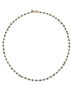 Mija  - Pyrite & Gold Vermeil Beaded Chain Necklace