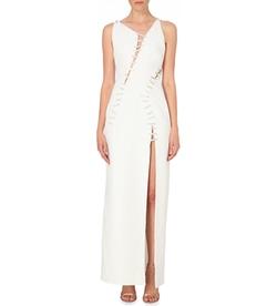 Versace  - Jewelled Stitch-Detail Silk Gown