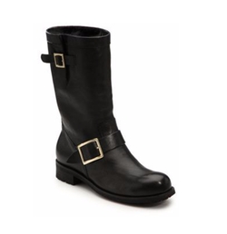 Jimmy Choo - Leather & Rabbit Fur Mid-Calf Boots