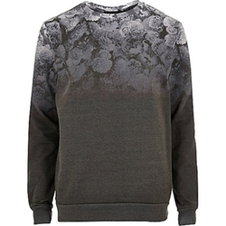 River Island - Faded Floral Print Sweatshirt
