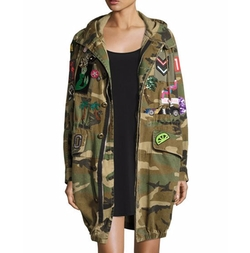 Marc Jacobs - Patch-Embellished Camo Anorak Coat