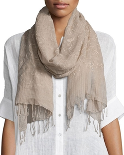 Eileen Fisher  - Hand-Loomed Organic Cotton Garden Scarf