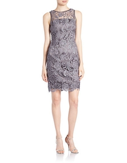 Adrianna Papell - Lace Sheath Dress