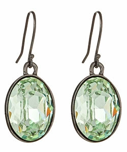 Diana Warner - Oval Crystal Drop Earrings