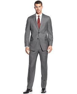 Tommy Hilfiger  - Grey Sharkskin Suit