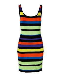 RALPH LAUREN BLACK LABEL - Jersey Striped Tank Dress