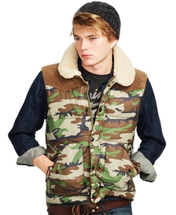 Denim & Supply Ralph Lauren - Camouflage Down Vest