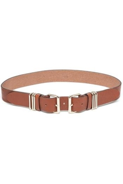 B-Low The Belt - Cognac Double-Buckle Belt