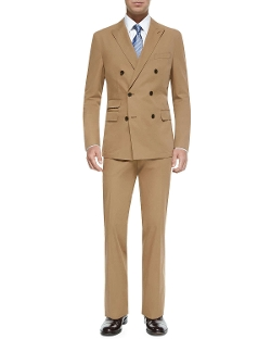 Boss Hugo Boss - Double-Breasted Cotton Suit