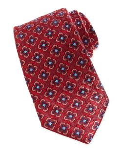 Robert Graham  - Floral Neat Pattern Silk Tie