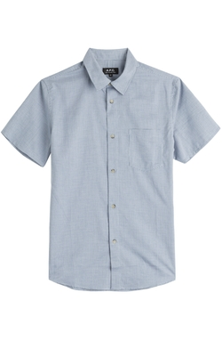 A.P.C.   - Short Sleeve Cotton Button-Down Shirt