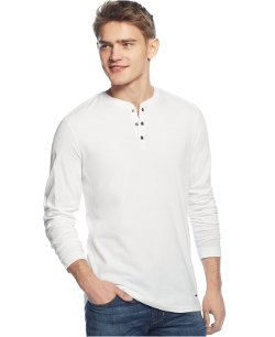 DKNY Jeans - Waffle-Detail Henley Shirt